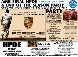AMR YEAR-END PARTY & PARADE LAPS @ Porsche COS to Pueblo Motorsports Park