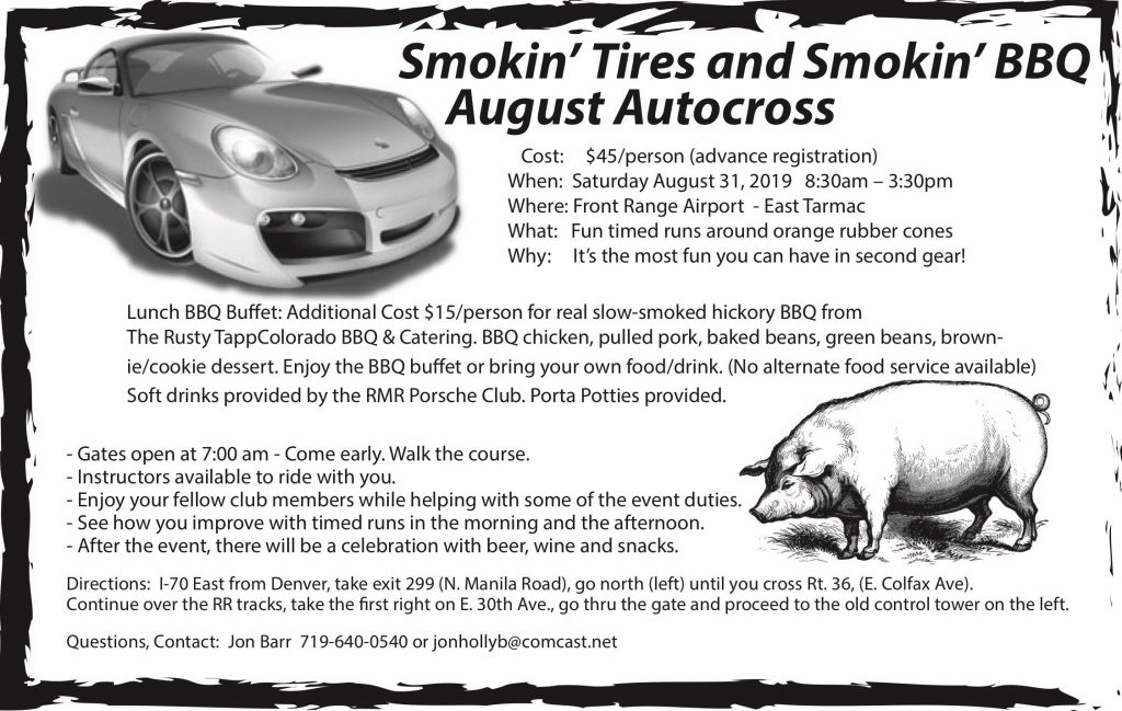 RMR Smokin' Tires and Smokin' BBQ August Autocross @ Front Range Airport