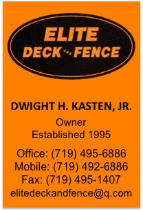 Elite Deck and Fence